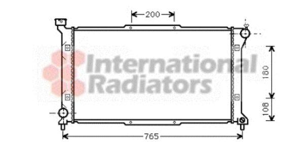 Radiateur, refroidissement du moteur - VAN WEZEL - 51002036