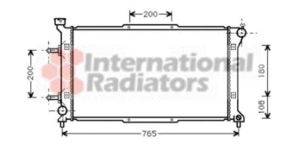 Radiateur, refroidissement du moteur - VAN WEZEL - 51002037