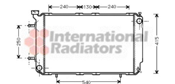 Radiateur, refroidissement du moteur - VAN WEZEL - 51002041