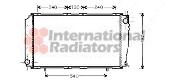 Radiateur, refroidissement du moteur - VAN WEZEL - 51002043