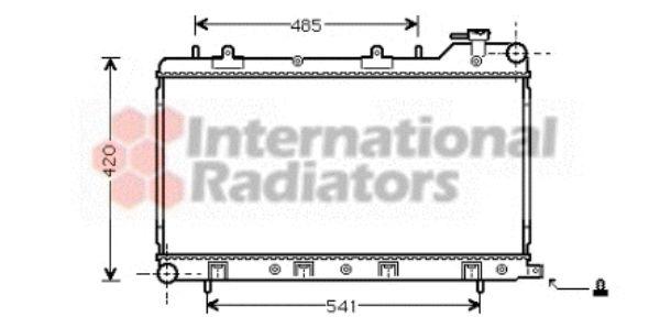 Radiateur, refroidissement du moteur - VAN WEZEL - 51002045