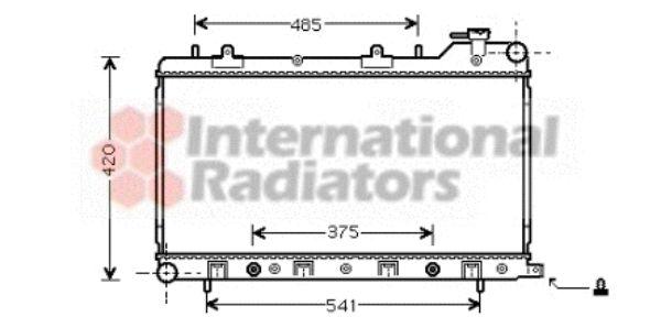 Radiateur, refroidissement du moteur - VAN WEZEL - 51002046