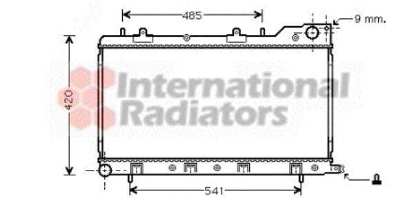Radiateur, refroidissement du moteur - VAN WEZEL - 51002047