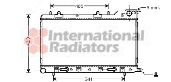 Radiateur, refroidissement du moteur - VWA - 88VWA51002048