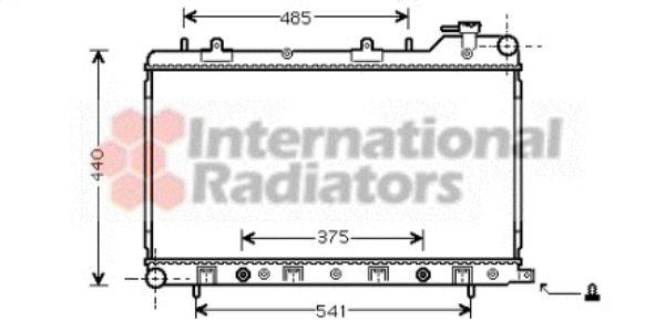 Radiateur, refroidissement du moteur - VAN WEZEL - 51002049