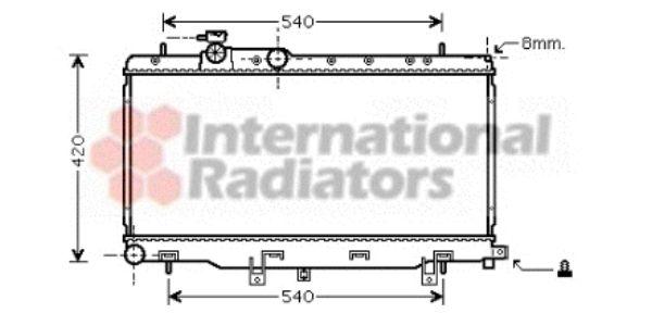 Radiateur, refroidissement du moteur - VAN WEZEL - 51002050