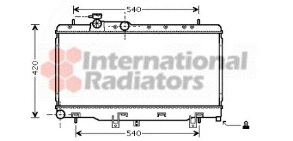 Radiateur, refroidissement du moteur - VAN WEZEL - 51002052