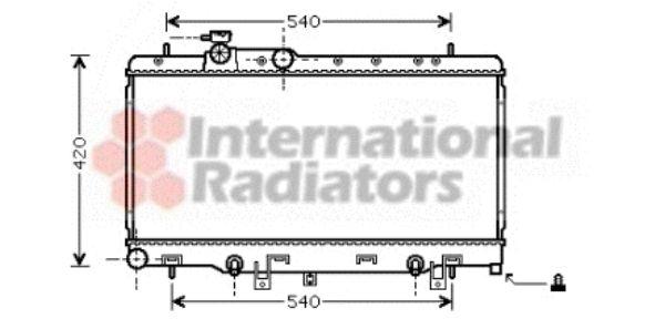Radiateur, refroidissement du moteur - VAN WEZEL - 51002053