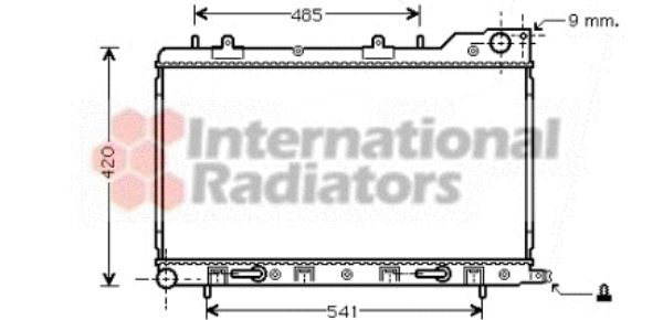 Radiateur, refroidissement du moteur - VAN WEZEL - 51002054
