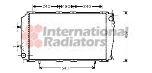 Radiateur, refroidissement du moteur - VAN WEZEL - 51002055