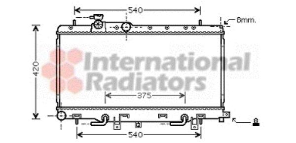 Radiateur, refroidissement du moteur - VAN WEZEL - 51002058