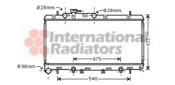 Radiateur, refroidissement du moteur - VAN WEZEL - 51002059