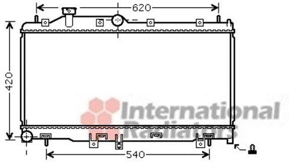 Radiateur, refroidissement du moteur - VAN WEZEL - 51002065