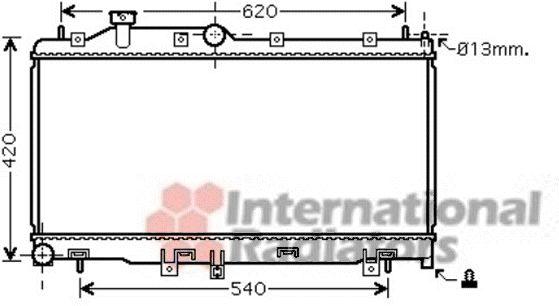 Radiateur, refroidissement du moteur - VAN WEZEL - 51002067