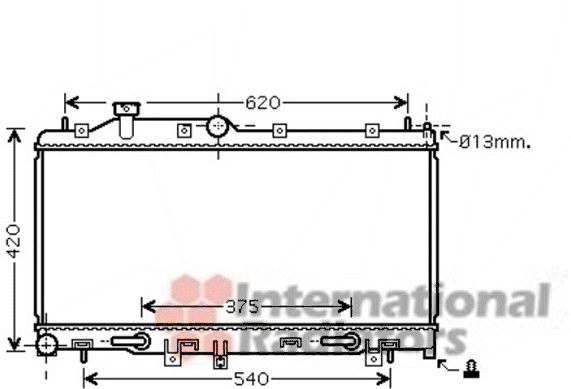 Radiateur, refroidissement du moteur - VAN WEZEL - 51002068