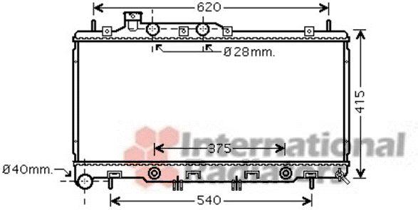 Radiateur, refroidissement du moteur - VAN WEZEL - 51002069