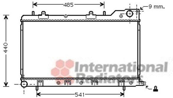 Radiateur, refroidissement du moteur - VAN WEZEL - 51002071
