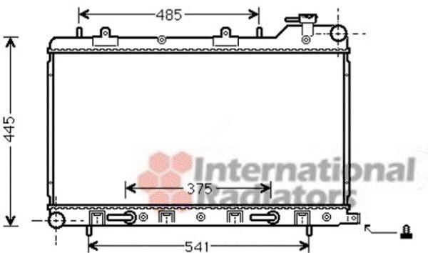 Radiateur, refroidissement du moteur - VAN WEZEL - 51002075
