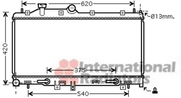 Radiateur, refroidissement du moteur - VAN WEZEL - 51002076
