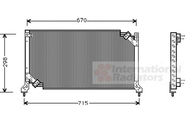 Condenseur, climatisation - VAN WEZEL - 51005026