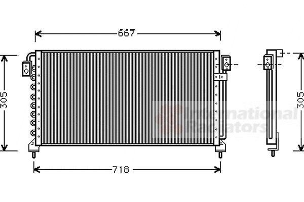Condenseur, climatisation - VAN WEZEL - 51005028