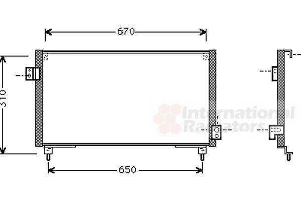 Condenseur, climatisation - VAN WEZEL - 51005031