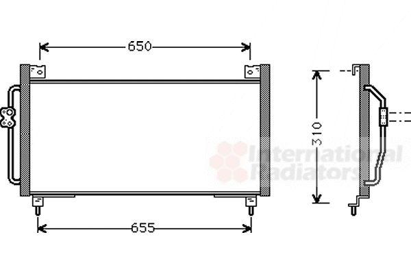 Condenseur, climatisation - VAN WEZEL - 51005039