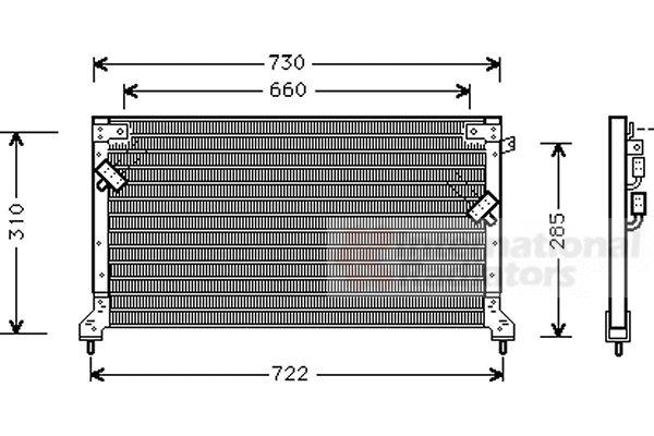 Condenseur, climatisation - VAN WEZEL - 51005040