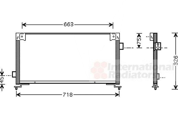Condenseur, climatisation - VAN WEZEL - 51005044