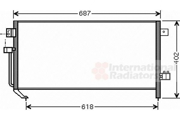 Condenseur, climatisation - VAN WEZEL - 51005060
