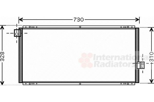 Condenseur, climatisation - VAN WEZEL - 51005062