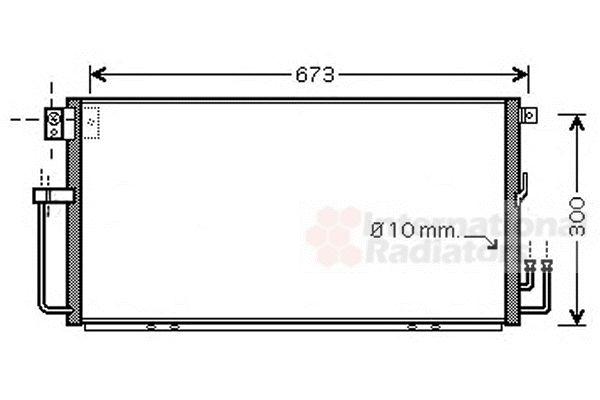 Condenseur, climatisation - VAN WEZEL - 51005064