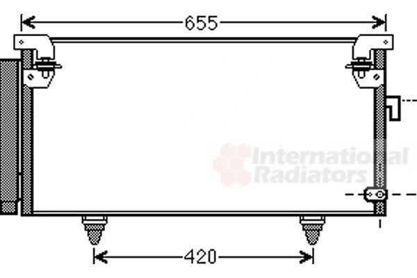 Condenseur, climatisation - VAN WEZEL - 51005073