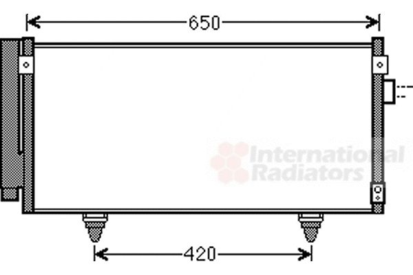 Condenseur, climatisation - VAN WEZEL - 51005077