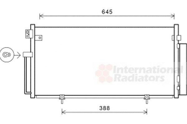 Condenseur, climatisation - VAN WEZEL - 51005078