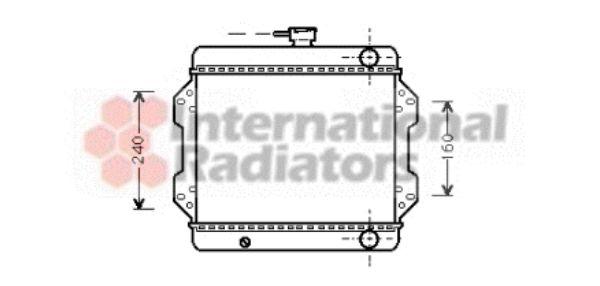 Radiateur, refroidissement du moteur - VAN WEZEL - 52002003