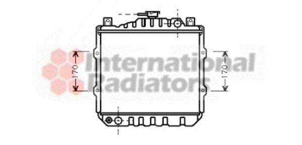 Radiateur, refroidissement du moteur - VAN WEZEL - 52002010