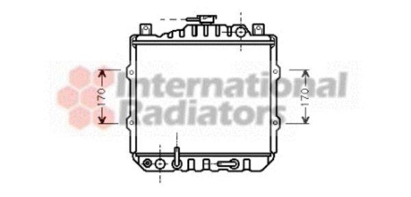 Radiateur, refroidissement du moteur - VAN WEZEL - 52002011