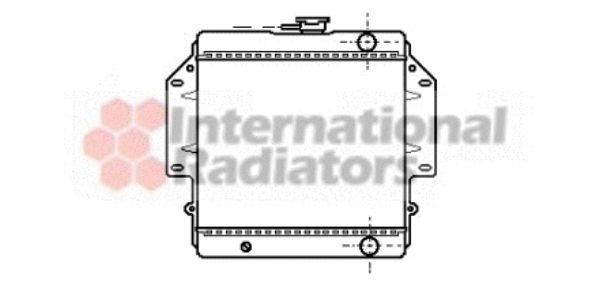 Radiateur, refroidissement du moteur - VAN WEZEL - 52002012