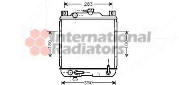 Radiateur, refroidissement du moteur - VAN WEZEL - 52002014