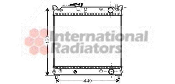 Radiateur, refroidissement du moteur - VAN WEZEL - 52002015