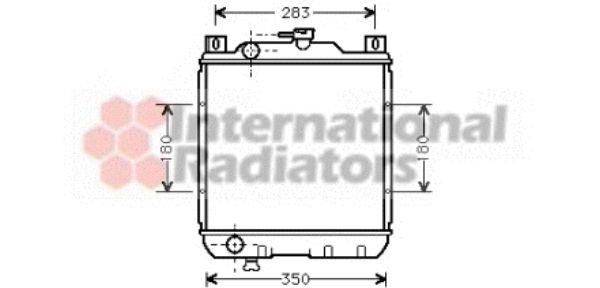 Radiateur, refroidissement du moteur - VAN WEZEL - 52002018