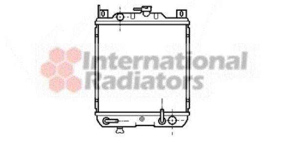 Radiateur, refroidissement du moteur - VAN WEZEL - 52002019