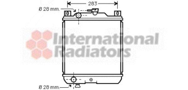 Radiateur, refroidissement du moteur - VAN WEZEL - 52002020