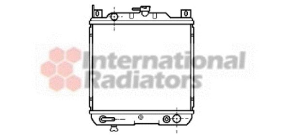 Radiateur, refroidissement du moteur - VAN WEZEL - 52002021