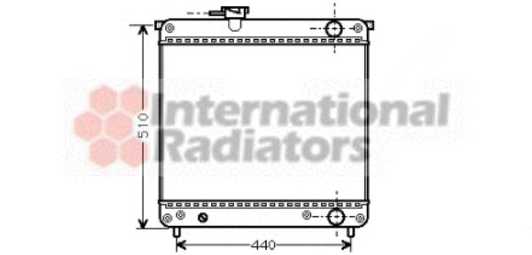 Radiateur, refroidissement du moteur - VAN WEZEL - 52002024