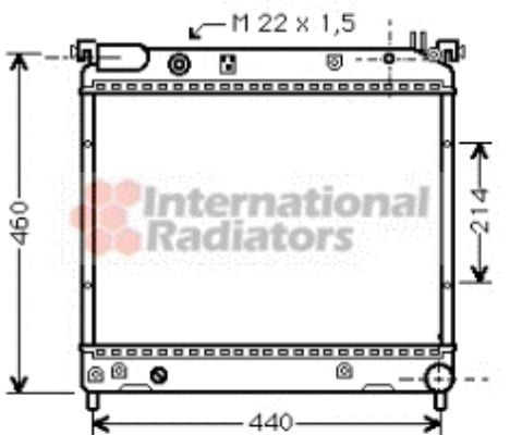 Radiateur, refroidissement du moteur - VAN WEZEL - 52002025