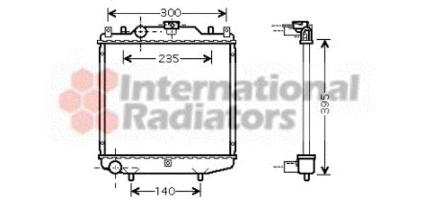 Radiateur, refroidissement du moteur - VWA - 88VWA52002028