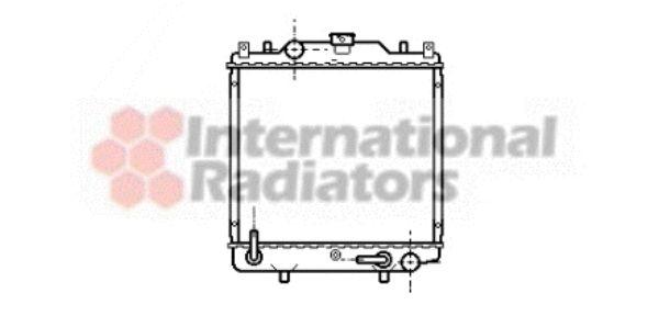 Radiateur, refroidissement du moteur - VAN WEZEL - 52002029