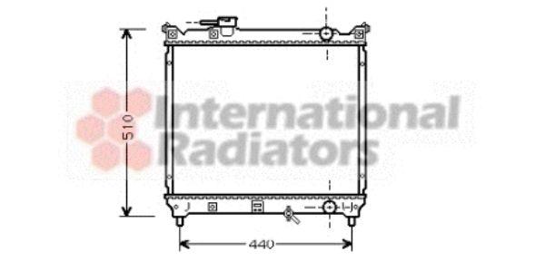 Radiateur, refroidissement du moteur - VAN WEZEL - 52002033